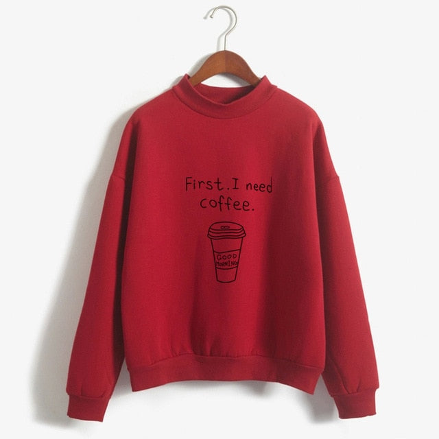 Kawaii I Need Coffee Sweatshirt
