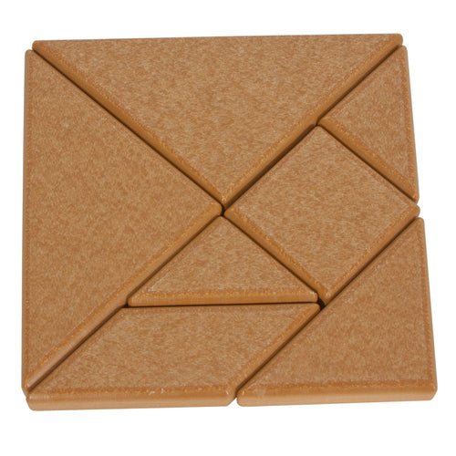 Playmore Design Eco Tangram Blocks (7 Recycled Plastic Blocks) - Cedar