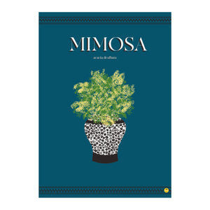 ILLUSTRATION AFFICHE 50 X 70 CM GRAND FORMAT MIMOSA BLEU MADE IN FRANCE MARIE ALICE VOUS EMMENE