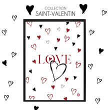 Charger l'image dans la galerie, AFFICHE COLLECTION SAINT-VALENTIN LOVE PETIT COEUR BLANC