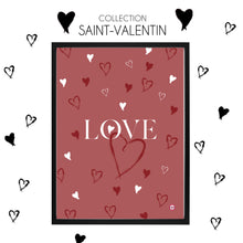 Charger l'image dans la galerie, AFFICHE COLLECTION SAINT-VALENTIN LOVE PETIT COEUR ROSE