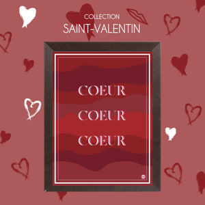 AFFICHE COLLECTION SAINT-VALENTIN COEUR COEUR COEUR