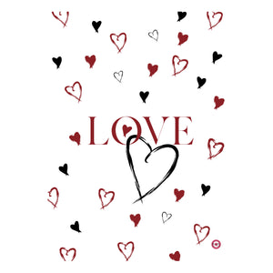 AFFICHE COLLECTION SAINT-VALENTIN LOVE PETIT COEUR BLANC