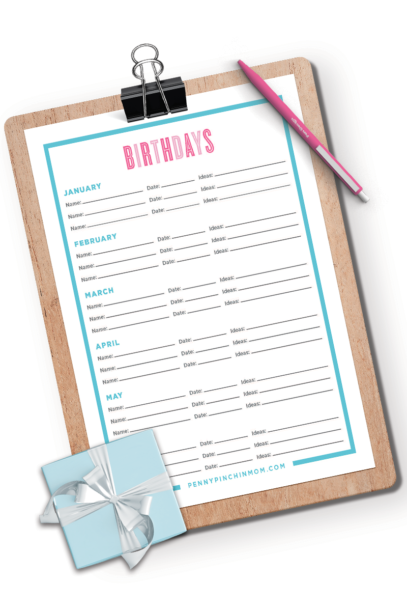 Birthday List Tracker