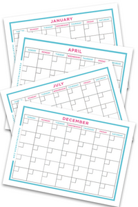 Blank Calendar (12 pages)
