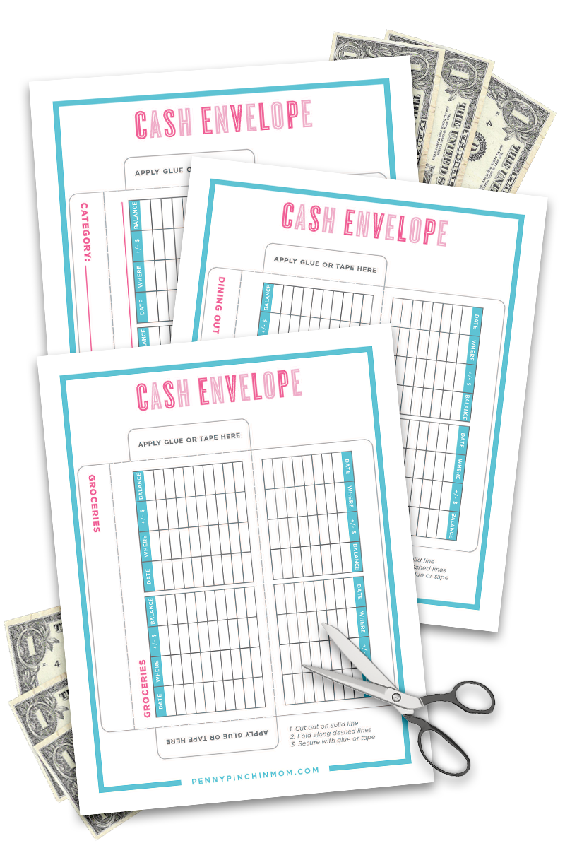 It's just an image of Accomplished Free Printable Cash Envelopes