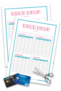 graphic about Envelope Printable called Cashless Envelope (2 Web pages)