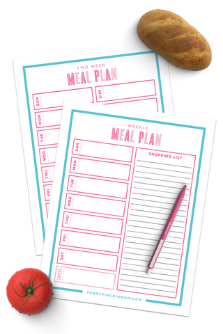 Meal Planner Forms (2 Pages)
