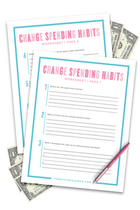 Spending Habits Worksheet (2 Pages)