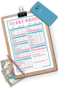 Teen Budget Worksheet