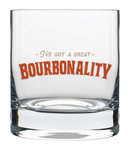 Bourbonality Old-Fashioned Glass