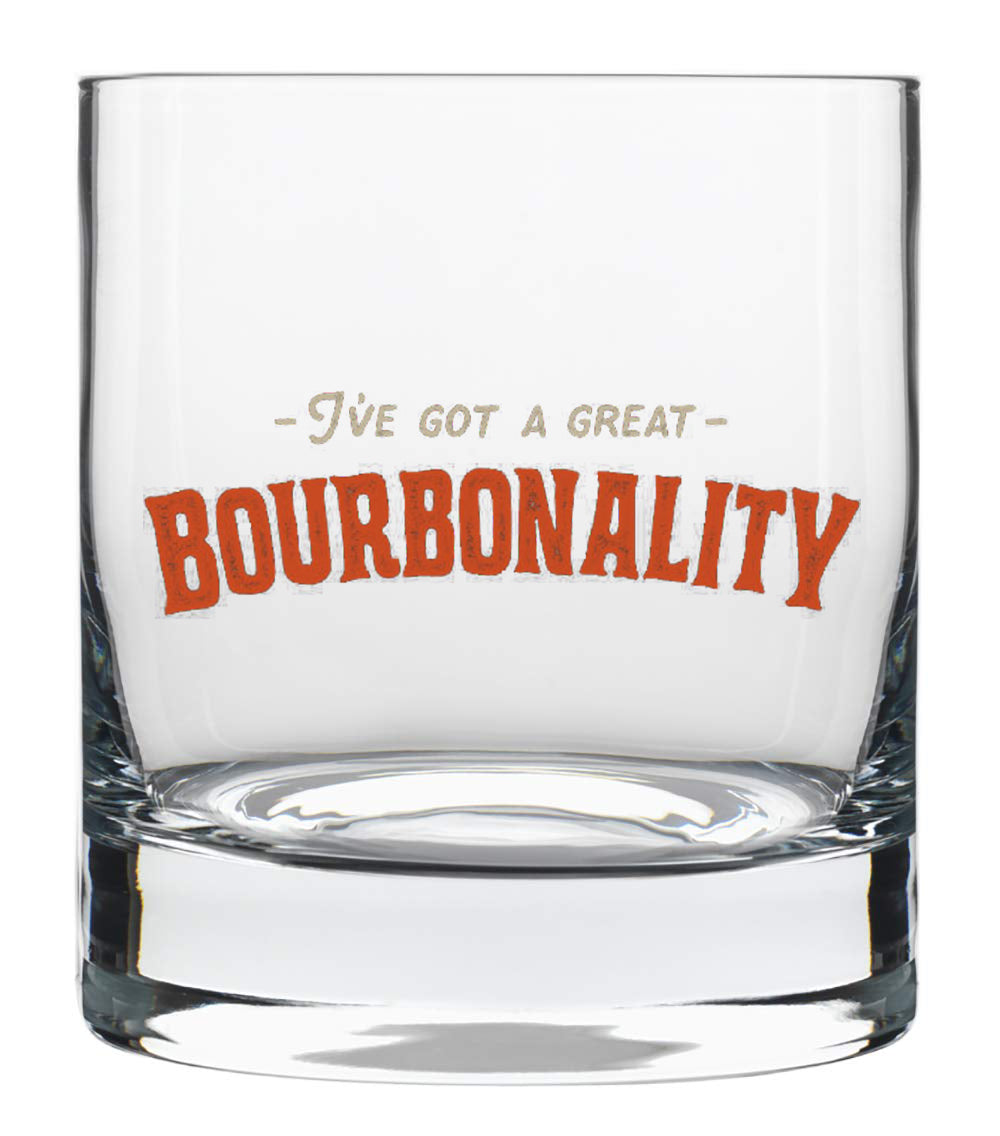 Bourbonality™ Old-Fashioned Glass