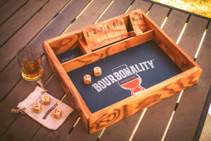 "*NEW* Bourbonality™ ""Shut the Box'"" Hand-Carved Game"