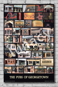 """Pubs of Georgetown"" Poster"