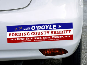 "Rust Creek ""Re-Elect O'Doyle"" Bumper Sticker"