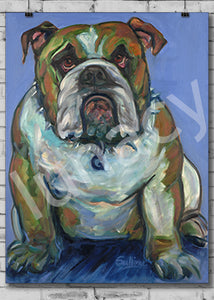 """Jack the Bulldog"" by Kathy Sullivan *SIGNED BY THE ARTIST*"