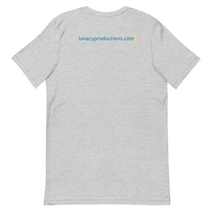 """Lunacy Letter Friends: Safety Tips"" T-Shirt (Light) (100% Proceeds to KY Film Crew Relief Fund)"