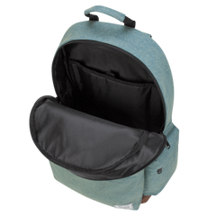 strata backpack in cyan