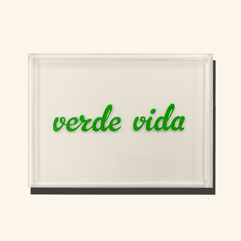 Verde Lucite Tray