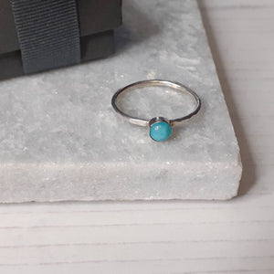 Silver And Amazonite Stacking Ring,Silver Ring,Handmade Jewellery,Jewlery,Amazonite Gemstone,Gift For Her