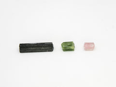 black green and watermelon tourmaline