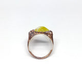 Triangle Scottish Marble Ring Size 6-3/4