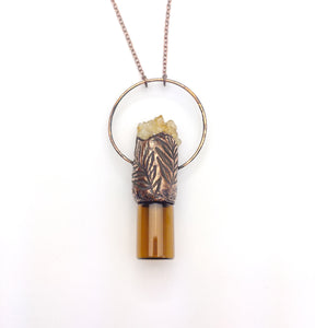 Citrine Cluster Aromatherapy Bottle Pendant