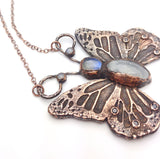 Moonstone Butterfly Statement Pendant