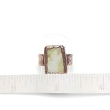 Scottish Green Marble Ring Size 8-1/2