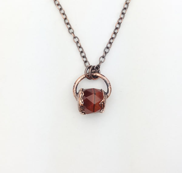 Faceted Red Tiger's Eye Pendant