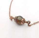 Faceted Spider Agate Bead Necklace