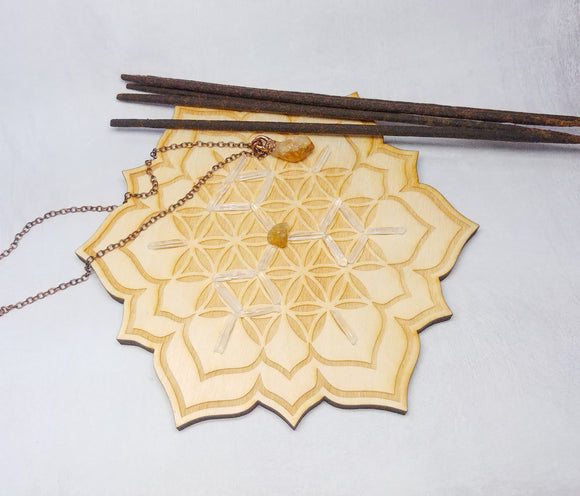 Flower of Life Crystal Grid Kit