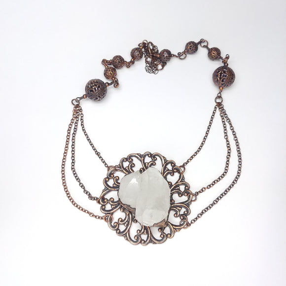 Vintage Inspired Gothic Crystal Necklace