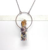 Raw Citrine Abundance Bottle Pendant