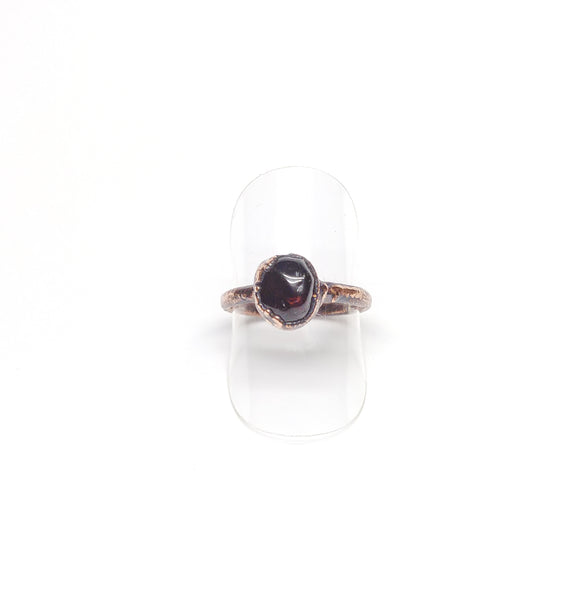 Polished Tumbled Garnet Ring Size 7-1/4