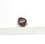 Polished Mahogany Obsidian Ring Size 7