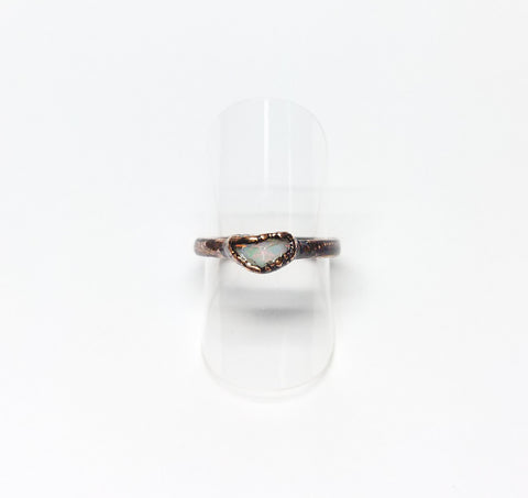 Raw Ethiopian Opal Ring Size 5-1/4