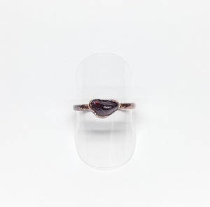 Tumbled Garnet Ring Size 7-3/4
