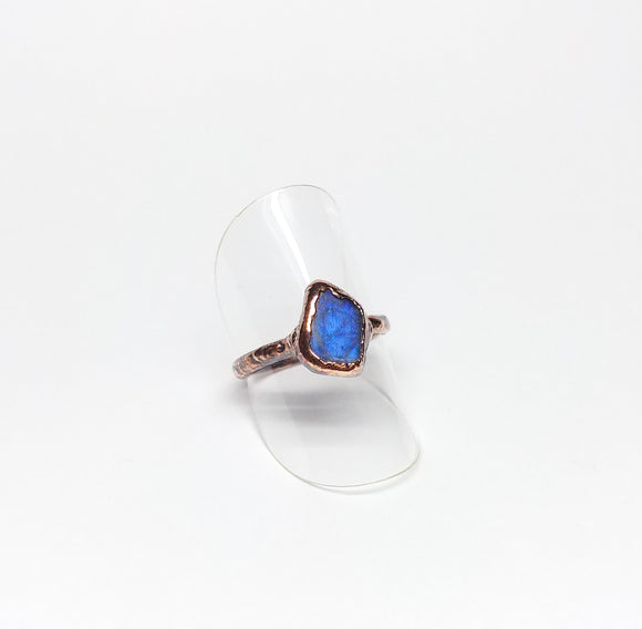 Tumbled Labradorite Ring Size 6-1/2