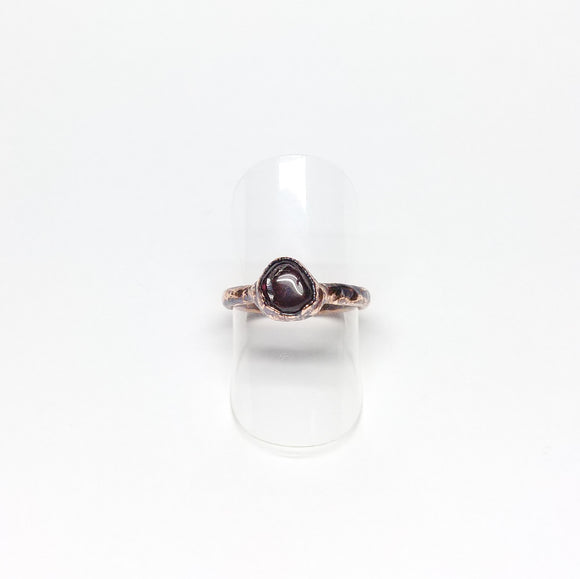 Tumbled Garnet Ring Size 5-1/4