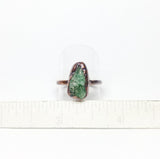 Raw Emerald Green Tanzurine Ring Size 8-3/4