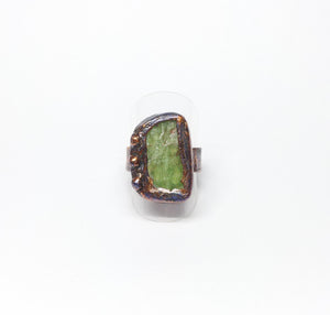 Green Kyanite Ring Size 8