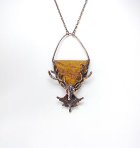 Scottish Agate Deer Pendant