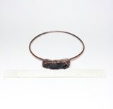 Raw Black Tourmaline Bangle Size L