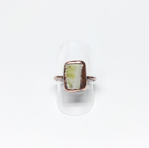 Scottish Green Marble Ring Size 8