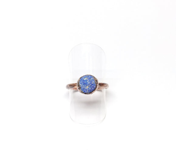 Azurite Ball Ring Size 6