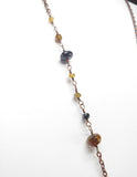 Raw Black Tourmaline w/ Tourmaline Beaded Chain