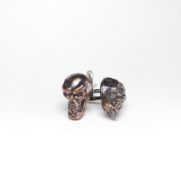 Copper Skull Cuff Links