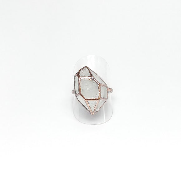 Tiffany Style Herkimer Diamond Ring Size 9-1/4