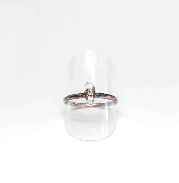 Delicate Herkimer Diamond Ring Size 9-1/2